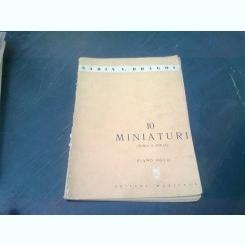 10 MINIATURI - SABIN V. DRAGOI  (SERIA A DOUA, PIANO SOLO)
