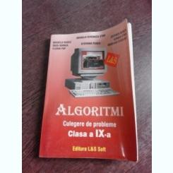 ALGORITMI, CULEGERE DE PROBLEME CLASA IX-A - MIHAELA VERONICA STAN SI ALTII