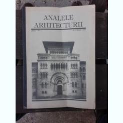 ANALELE ARHITECTURII NR.1/1998