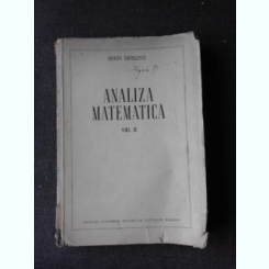 ANALIZA MATEMATICA - MIRON NICOLESCU  VOL.2