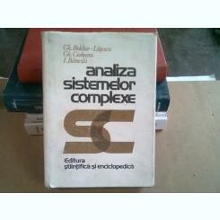 ANALIZA SISTEMELOR COMPLEXE - GH. BOLDUR LATESCU