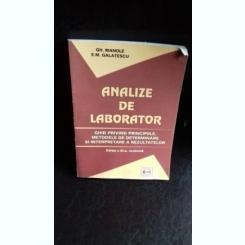ANALIZE DE LABORATOR - GH. MANOLE
