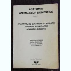 ANATOMIA ANIMALELOR DOMESTICE - VOL I -APARATUL DE SUSTINERE SI MISCARE,APARATUL RESPIRATOR , APARATUL DIGESTIV - ALEXANDRU POPESCU & CO