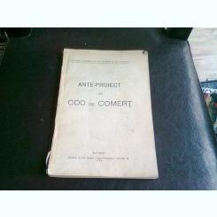 ANTE PROIECT DE COD DE COMERT