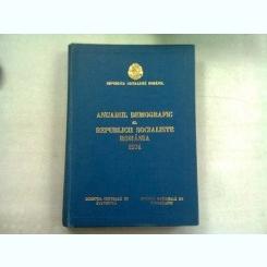 ANUARUL DEMOGRAFIC AL REPUBLICII SOCIALISTE ROMANIA 1974