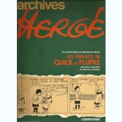 ARCHIVES HERGE - M. MOPS  TOME 2  (CARTE CU BENZI DESENATE, TEXT IN LIMBA FRANCEZA)