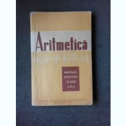 ARITMETICA, MANUAL PENTRU CLASA A V-A, 1961