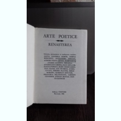 ARTE POETICE.RENASTEREA - DOINA CONDREA