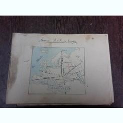 Caiet de geografie din anii, 50, Asezarea R.P.R. in Europa, atlas