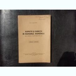Aspecte si directii in romanul romanesc - Nic. N. Munteanu