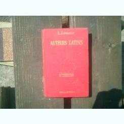 Auteur latins etudes et analyses- L. Levrat