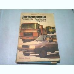AUTOMOBILUL , CONSTRUCTIE , FUNCTIONARE , DEPANARE de D. CRISTESCU , V. RADUCU