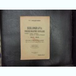 Bibliografia poeziei noastre populare - G. T. Niculescu-Varone