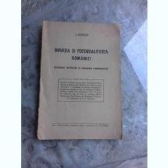 BOGATIA SI POTENTIALITATEA ROMANIEI - L. ADAMOIU