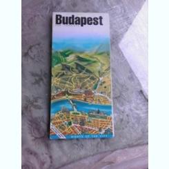 BUDAPEST, HARTA TURISTICA