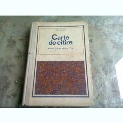 CARTE DE CITIRE - LUCIA ATANASESCU  MANUAL CLASA A VI-A, 1980