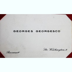 CARTE DE VIZITA GEORGES GEORGESCO