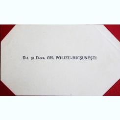 CARTE DE VIZITA GH. POLIZU-MICSUNESTI