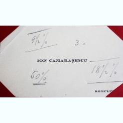 CARTE DE VIZITA ION CAMARASESCU