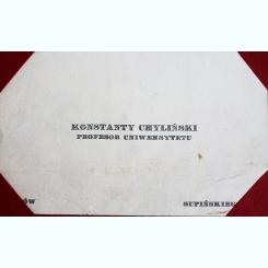 CARTE DE VIZITA KONSTANTY CHYLINSKI, PROFESOR UNIVERSITAR