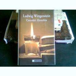 CERCETARI FILOZOFICE-LUDWIG WITTGENSTEIN
