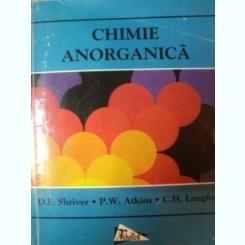 CHIMIE ANORGANICA de D.F. SHRIVER , PW. ATKINS , C.H. LANGFORD , 1998
