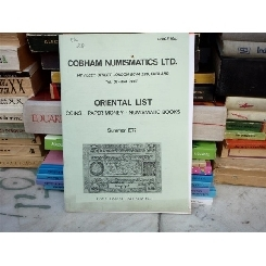 Cobham numismatics Ltd. Oriental List , 1977