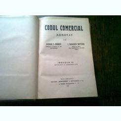 CODUL COMERCIAL ADNOTAT DE GEORGE T. IONESCU SI I. VASILESCU NOTTARA