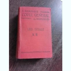 CODUL GENERAL AL ROMANIEI, LEGI UZUALE VOL.VIII - HAMANGIU