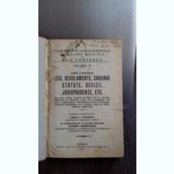 COLECTIUNEA DE LEGIUIRI BISERICESTI SI SCOLARE ADNOTATE - CH.C. COSTESCU   VOL.3