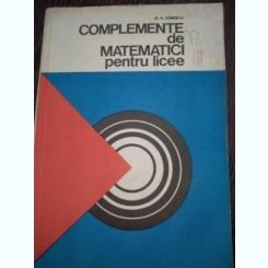 Complemente De Matematici Pentru Licee - D.Ionescu
