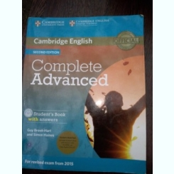 Complete Advanced Second Edition - curs si caiet de seminar