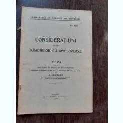 CONSIDERATIUNI ASUPRA TUMORILOR CU MYELOPLAXE - A. CONDAXE  (TEZA DE DOCTORAT, CU DEDICATIE)