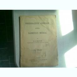 CONSIDERATIUNI GENERALE ASUPRA RAZBOIULUI MONDIAL - M.A. RACHTIVAN