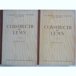 CONSTRUCTII DE LEMN - G.G. KARLSEN   2 VOLUME