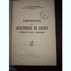 Contractul de deschidere de credit- studii de drept comparat- Galesescu Pik