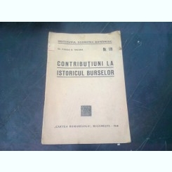 CONTRIBUTIUNI LA ISTORICUL BURSELOR - VASILE D. SECARA
