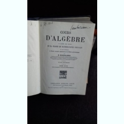 COURS D'ALGEBRE - B. NIEWENGLOWSKI