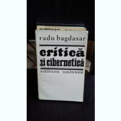 CRITICA SI CIBERNETICA - RADU BAGDASAR