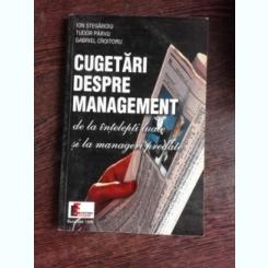CUGETARI DESPRE MANAGEMENT - ION STEGAROIU