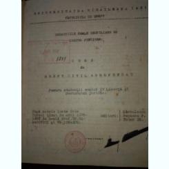 Curs de drept civil aprofundat, pt studentii an IV licenta si doctorat juridic, dupa note de curs 1936-1937