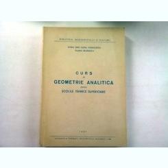 CURS DE GEOMETRIE ANALITICA PENTRU SCOLILE TEHNICE SUPERIOARE - OVIDIU TINO