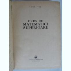 Curs de matematici superioare - Caius Iacob