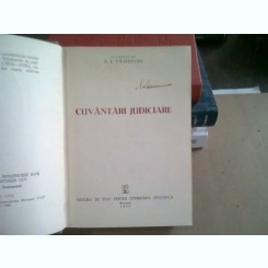 CUVANTARI JUDICIARE - A.I. VISINSCHI
