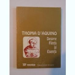 DESPRE FIINTA SI ESENTA-THOMA D''ÁQUINO