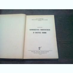 DESPRE RESPONSABILITATEA ADMINISTRATORILOR IN SOCIETATILE ANONIME - V.V. DIMIAN