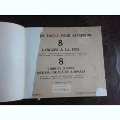 DICTIONAR 8 LIMBI DE O DATA, METODA USOARA SE A INVATA  - EUGEN PAUL SAMSONOVICI (ROMANA - ESPERANTO, FRANCEZA-ENGLEZA, OLANDEZA-GERMANA, SPANIOLA-ITALIANA)