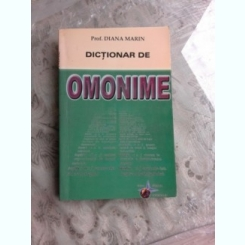 DICTIONAR DE OMONIME - DIANA MARIN