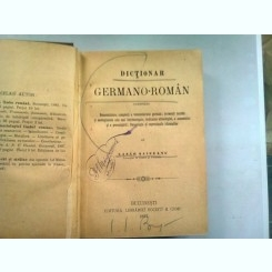 DICTIONAR GERMANO ROMAN - LAZAR SAINEANU