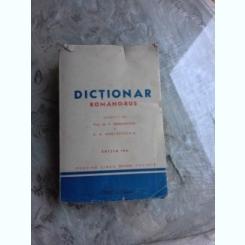 DICTIONAR ROMAN RUS - M.V. SERGHIEVSCHI  EDITIA IV-A